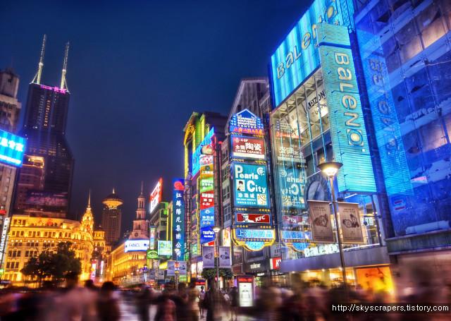 눈물나게 아름다운 상하이의 스카이라인 야경