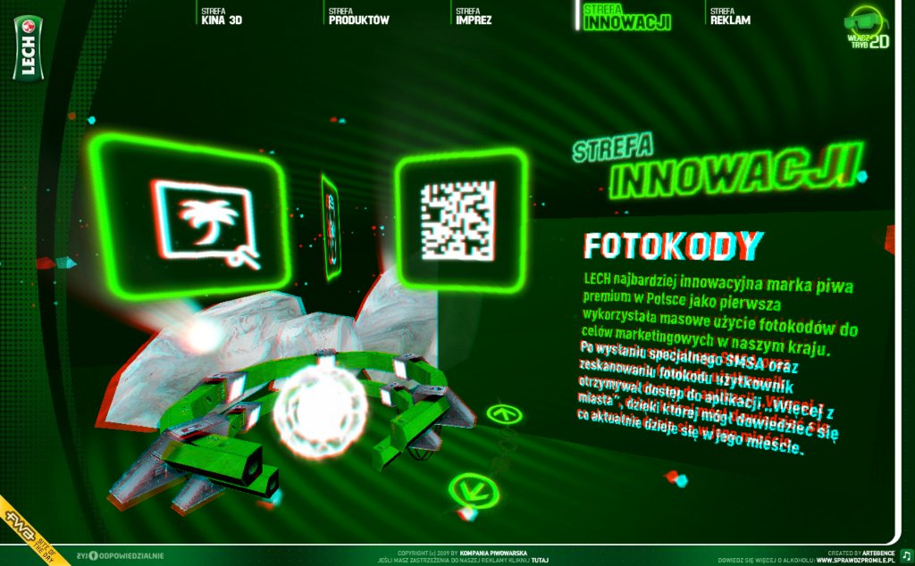 3D Web UI from Lech.pl