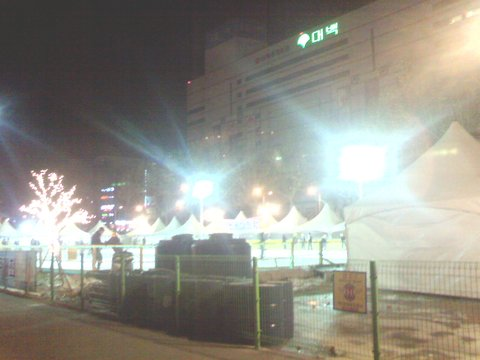 대구 신천 야외 스케이트장 야경 by Ara