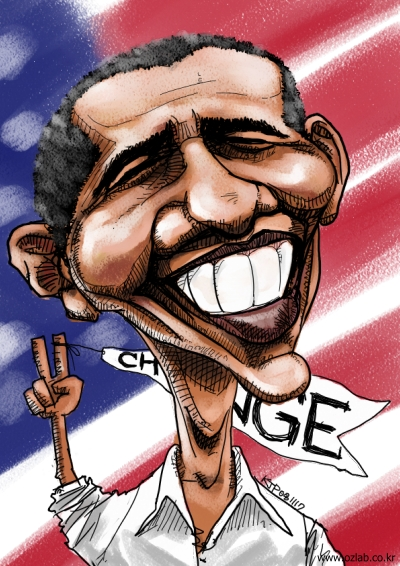 버락 오바마 캐리커쳐 (Barack Hussein Obama Caricature)