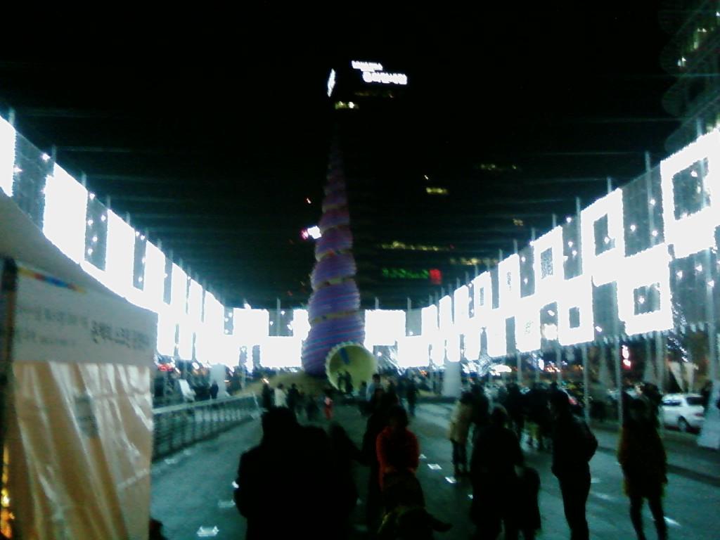 청계광장 2008년12월28일