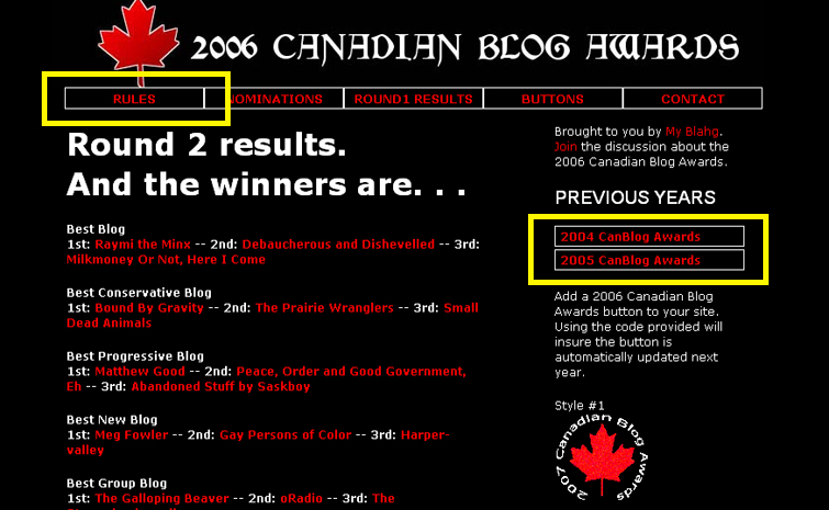 Canadian Blog Awards