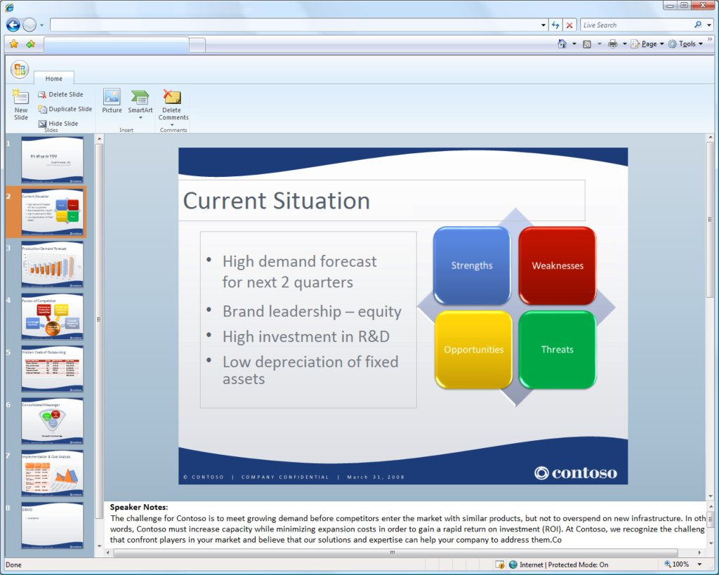 ms office web component(Powerpoint)