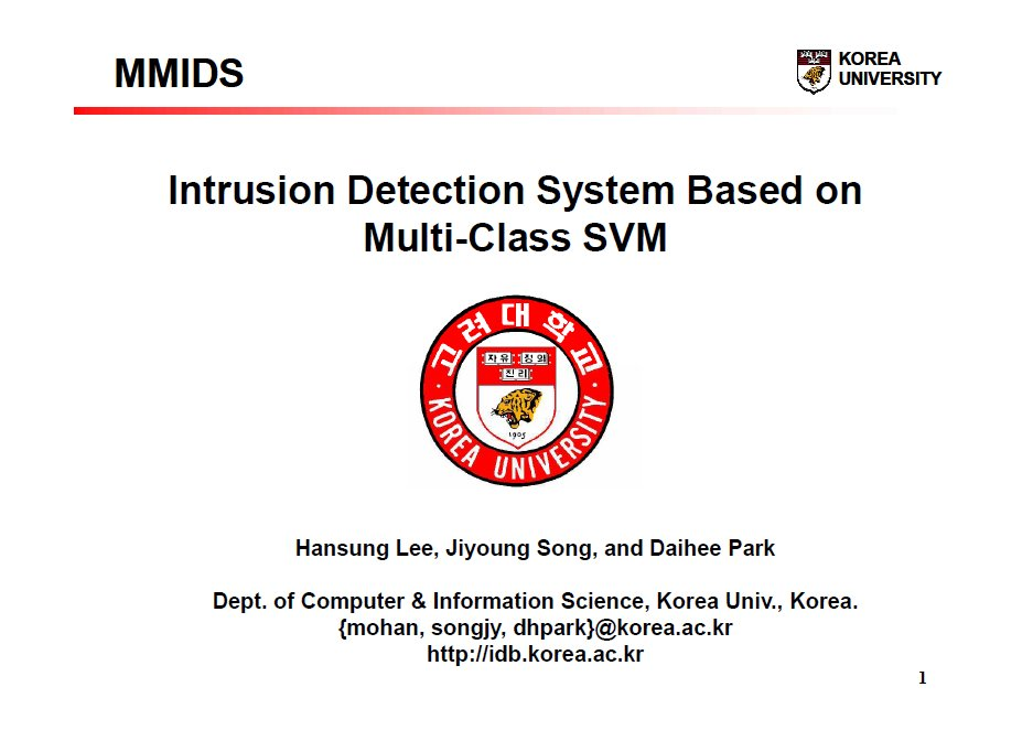 다중 클래스 SVM 기반 침입탐지 시스템