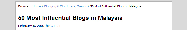 50 Most Influential Blogs in Malaysia