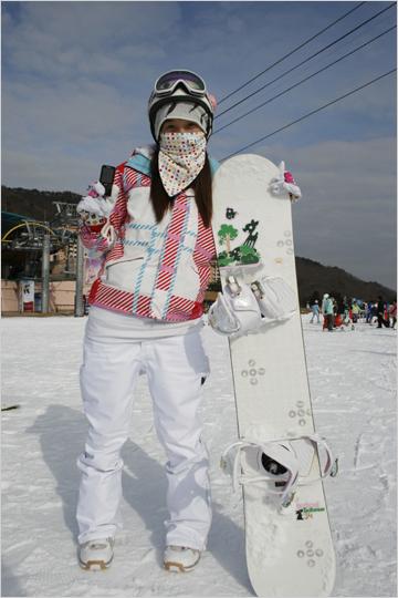 스키장에서 만난 스타일리쉬 소니피플