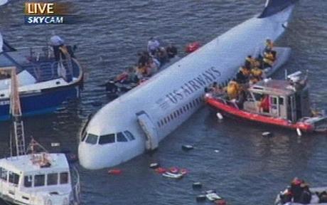 강에 비상착륙한 유에스 항공