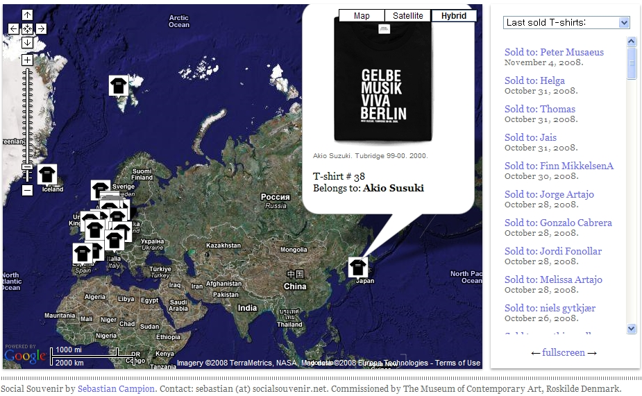 구글맵 매시업 - Social Souvenir