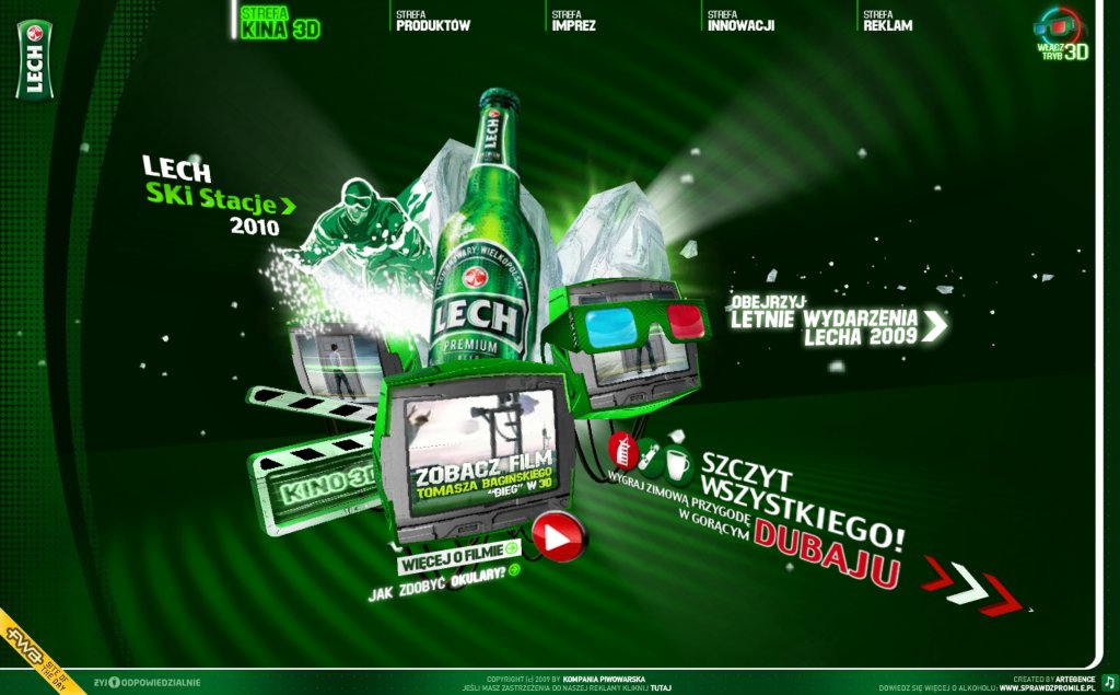 2D Web UI from Lech.pl