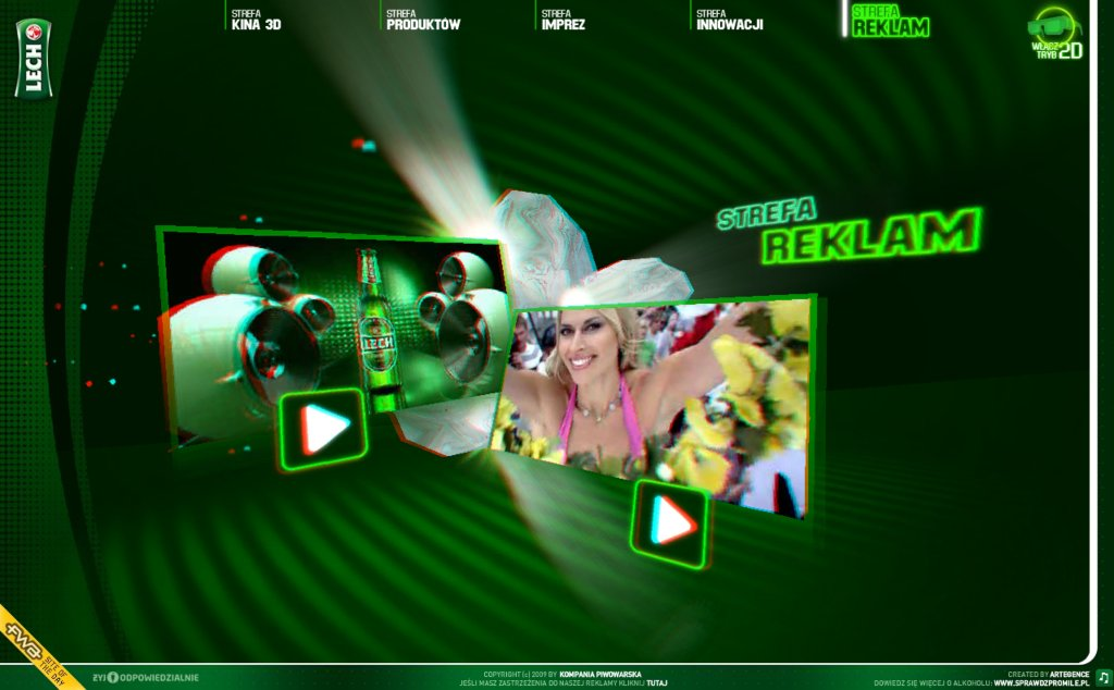 3D Web UI from Lech.pl