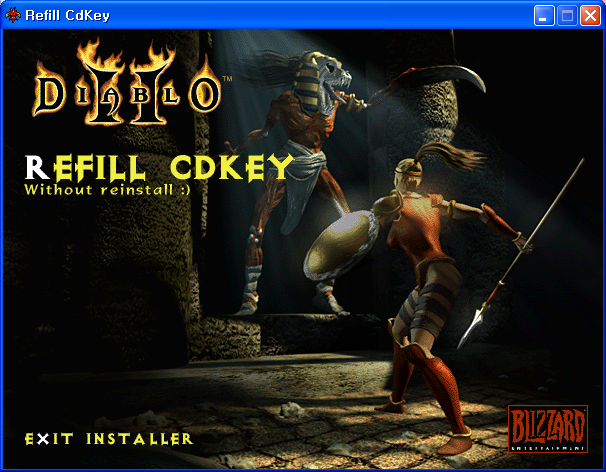 디아블로2 시디키 체인저 diablo refill cdkey, cd key changer