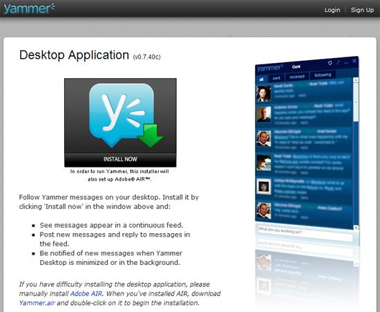 Yammer Desktop Client