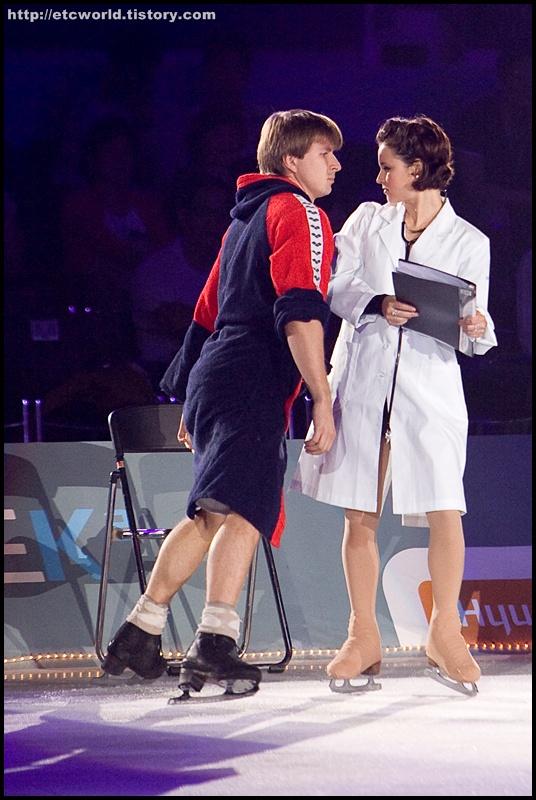 '현대카드슈퍼매치 Ⅶ - '08 Superstars on Ice' 에서 호흡을 맞춘 러시아의 알렉세이 야구딘 (Alexei Yagudin)과 미국의 샤샤 코헨 (Sasha Cohen)