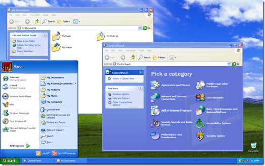 <화면 7> 윈도우XP